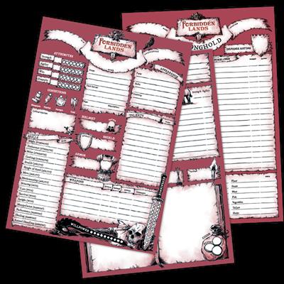 Комплект бланков для игры «Запретные земли» - фото 5514