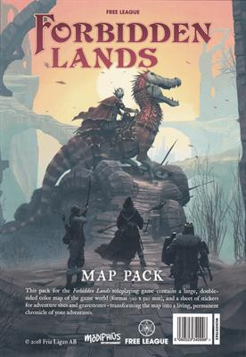 Комплект карты Запретных земель и наклеек - фото 5520